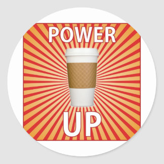 Coffee - Your Super Power! Classic Round Sticker