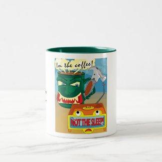 coffee, Z, Z, Z Two-Tone Coffee Mug