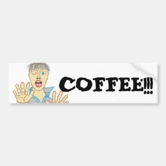 COFFEE!!! Zombie Bumper Sticker