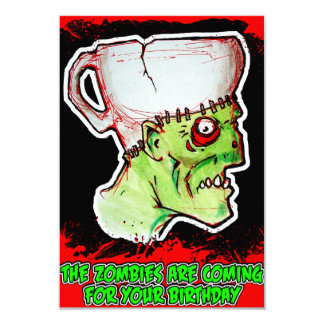 Coffee Zombie greeting and birthday card