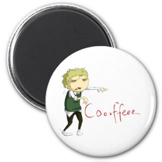 Coffee zombie magnet