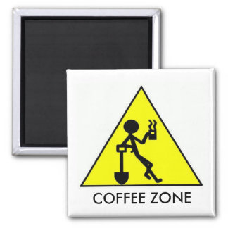 Coffee Zone 2 Inch Square Magnet