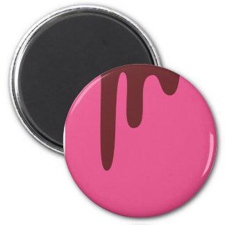 CoffeeASDonutsP14 2 Inch Round Magnet