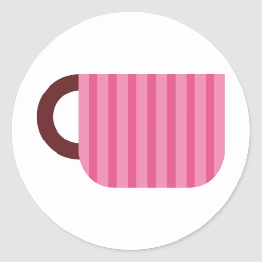 CoffeeASDonutsP6 Etiqueta Redonda