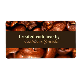 Coffeebeans Recipe/Goodies Label Shipping Label