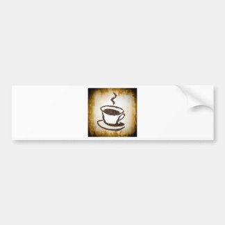 CoffeeBeansCoffeeCupArt.jpg Bumper Sticker