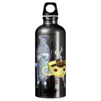CoffeeBot y MilkBot por Valxart Botella De Agua