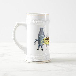 CoffeeBot y MilkBot por Valxart Jarra De Cerveza