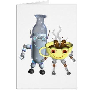 CoffeeBot y MilkBot por Valxart Tarjeta De Felicitación