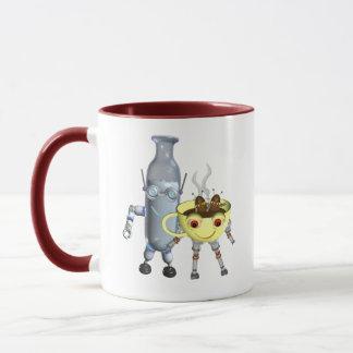 CoffeeBot y MilkBot por Valxart Taza