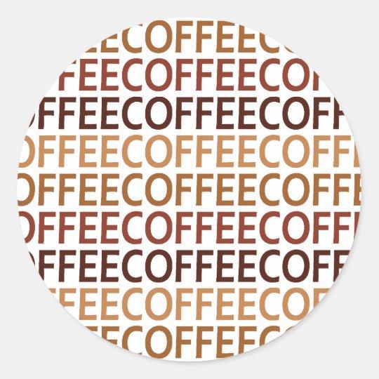 Coffeecoffee Classic Round Sticker