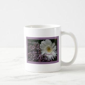 Coffeecup blanco de la margarita del gerber del re tazas de café