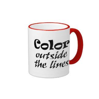 Coffeecups inspirados del motivaional de los taza de dos colores