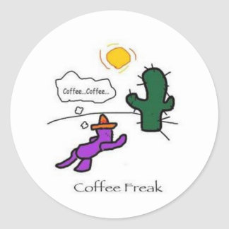 Coffeefreak Classic Round Sticker