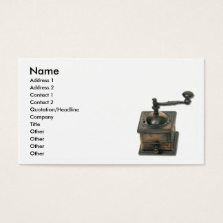 CoffeeGrinder, Name, Address 1, Address 2, Cont... Business Card