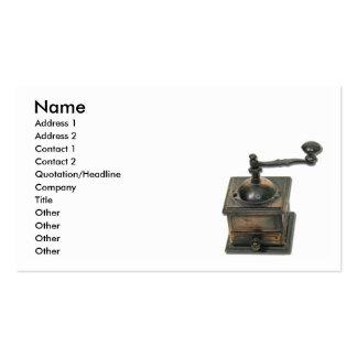 CoffeeGrinder, nombre, dirección 1, dirección 2, C Plantillas De Tarjeta De Negocio