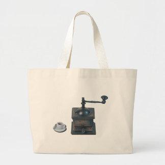 CoffeeGrinderAndCoffeeCup082414.png Large Tote Bag