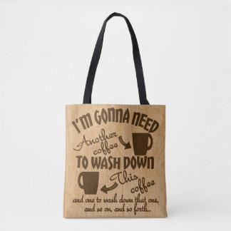 Coffeeholics Anonymous Coffee Addiction Typography Tote Bag