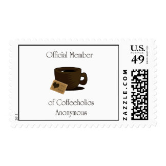 coffeeholics Anonymous Postage Stamp