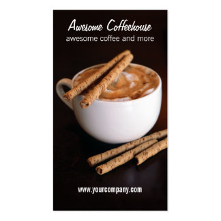 coffeehouse Double-Sided standard business cards (Pack of 100)