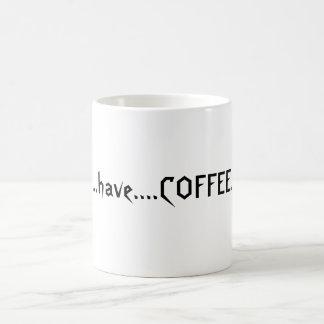 Coffeelover's slogan magic mug