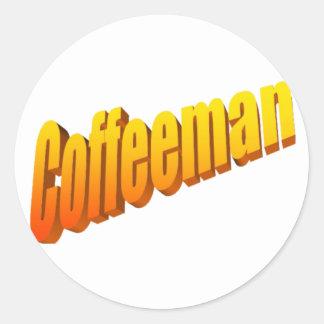 Coffeeman Etiquetas Redondas