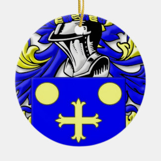 Coffeen Coat of Arms Double-Sided Ceramic Round Christmas Ornament