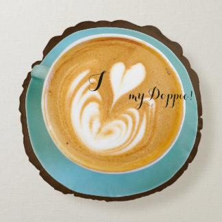 Coffeenista Round Pillow
