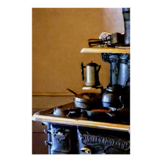 Coffeepot on Stove Poster