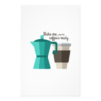 Coffees Ready Personalized Stationery