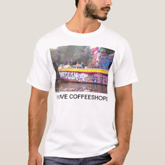 Coffeeshop on an old Dutch barge, Amsterdam T-Shirt