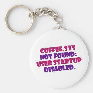 CoffeeSys Basic Round Button Keychain