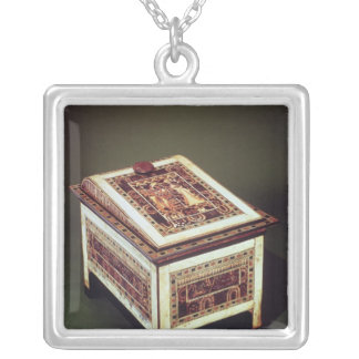 Coffer, from the Tomb of Tutankhamun Silver Plated Necklace