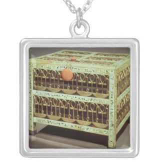 Coffer from the treasury of tomb of silver plated necklace