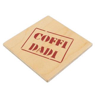 Coffi Dadi (Welsh) Wooden Coaster