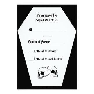 Coffin (Black) RSVP Card