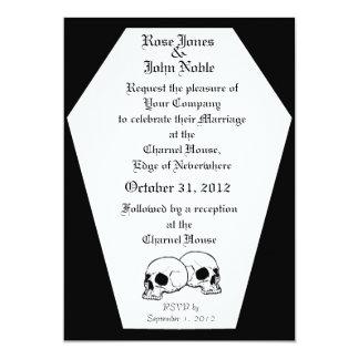 Coffin (Black) Wedding Invitation