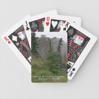 Coffin Butte Fire Lookout Bicycle Playing Cards