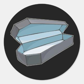 Coffin Classic Round Sticker