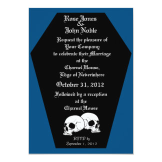 Coffin Ebony (Blue) Wedding Invitation