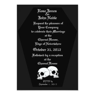 Coffin Ebony (Charcoal) Wedding Invitation