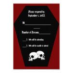 Coffin Ebony II (Red) RSVP Card Invitation