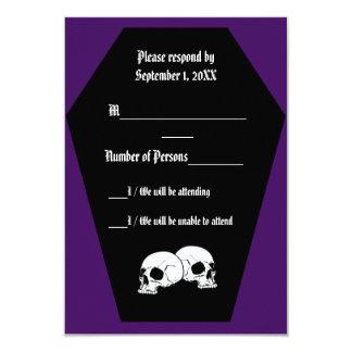 Coffin Ebony (Indigo) RSVP Card