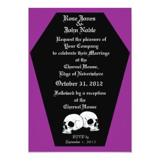 Coffin Ebony (Purple) Wedding Invitation
