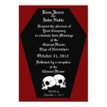 "Coffin Ebony (Red) Wedding Invitation 5"" X 7"" Invitation Card"