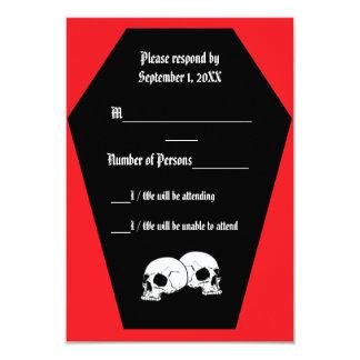 Coffin Ebony (Ruby) RSVP Card