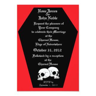 Coffin Ebony (Ruby) Wedding Invitation