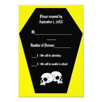 Coffin Ebony (Yellow) RSVP Card