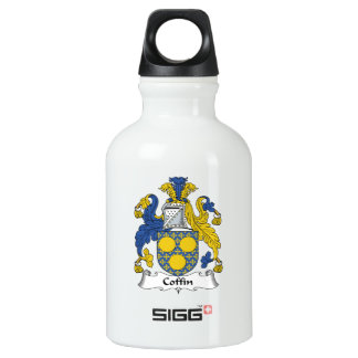 Coffin Family Crest Water Bottle