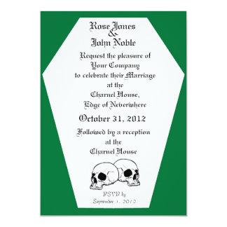 Coffin (Green) Wedding Invitation
